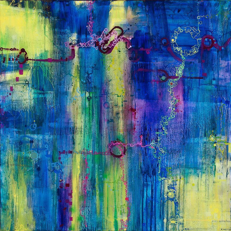 Math Painting - Music Of The Spheres by Regina Valluzzi