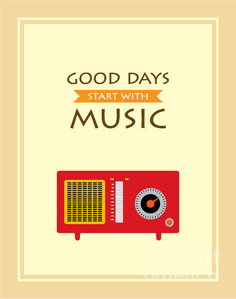 Antenna Digital Art - Music Radio Poster by Judilyn