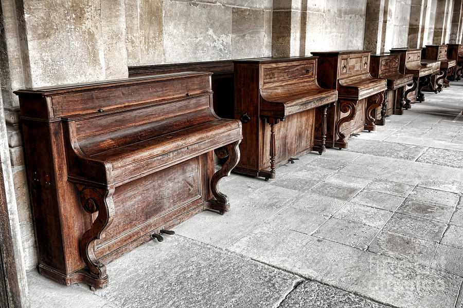 Pianos Photograph - Music Row by Olivier Le Queinec