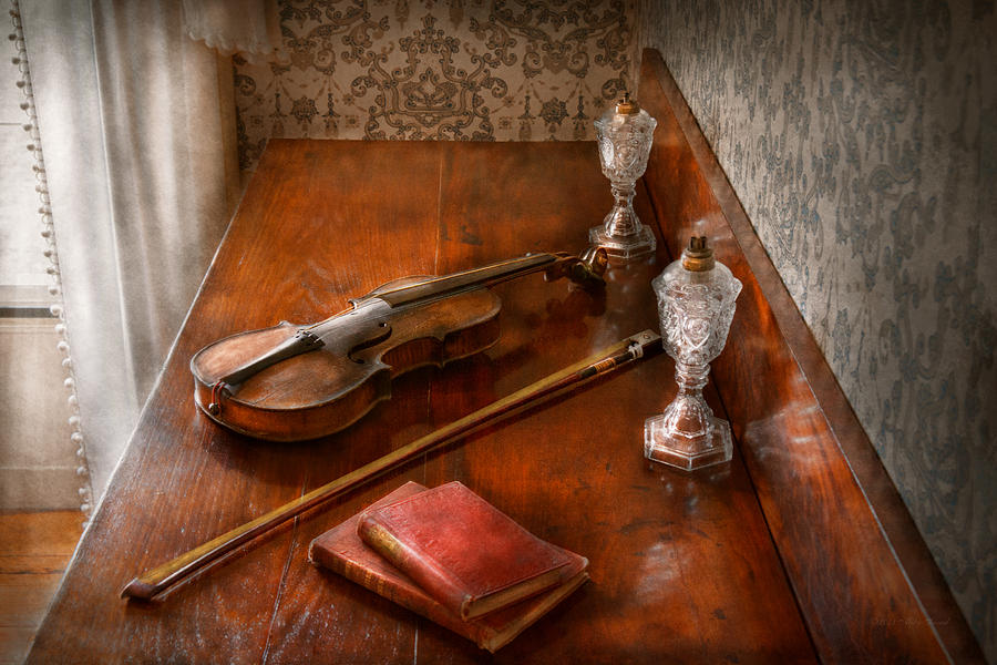 Savad Photograph - Music - Violin - A Sound Investment  by Mike Savad