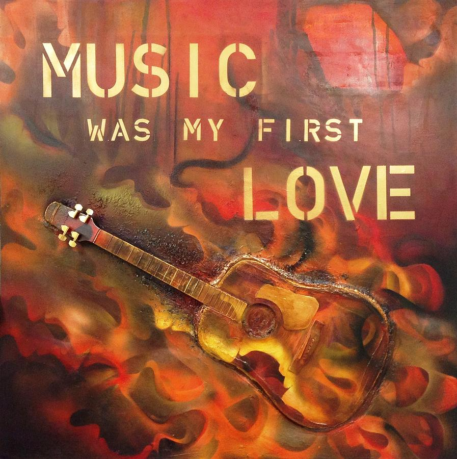 music was my first love painting by alexandra mariani. Black Bedroom Furniture Sets. Home Design Ideas