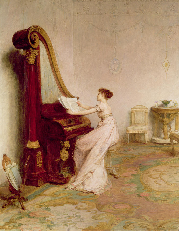 Interior Painting - Music When Soft Voices Die, Vibrates by Sir William Quiller Orchardson