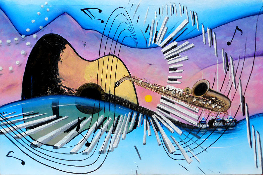Music Painting - Musica by Angel Ortiz