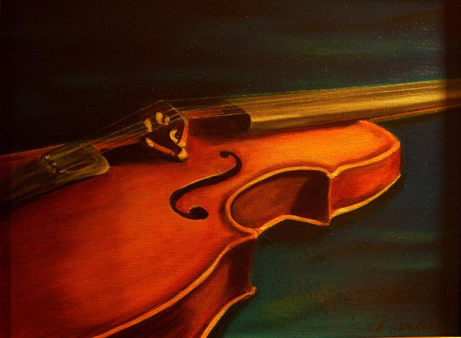 Violin Painting - Musica by Anne Barberi