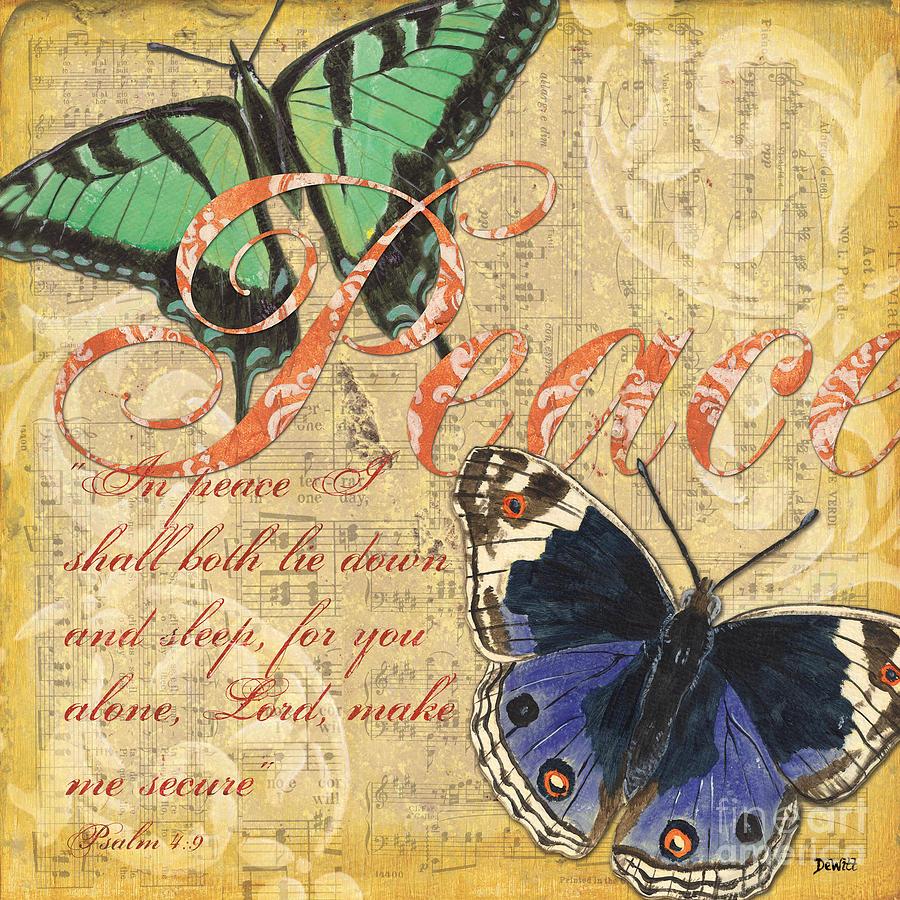 Butterflies Painting - Musical Butterflies 2 by Debbie DeWitt