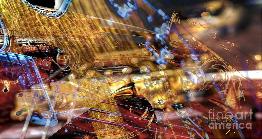 Guitar Photograph - Musical Confusion Digital Guitar Art By Steven Langston by Steven Lebron Langston