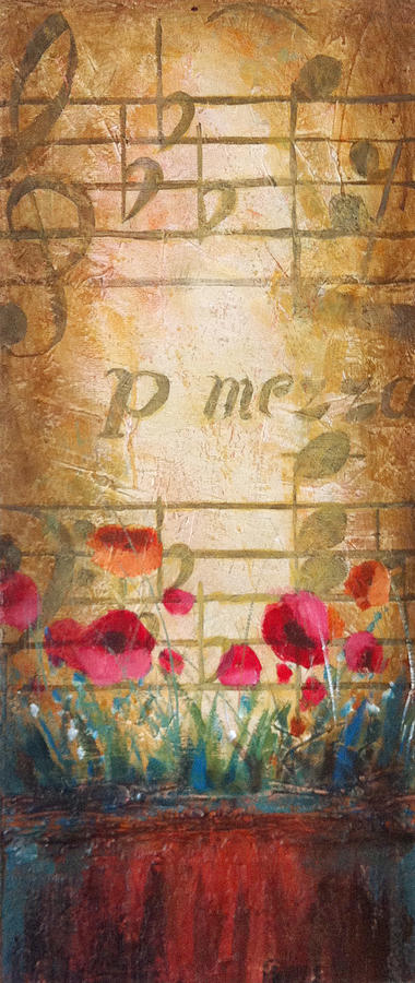 Christopher Clark Painting - Musical Garden Part 1 Of 2 by Christopher Clark