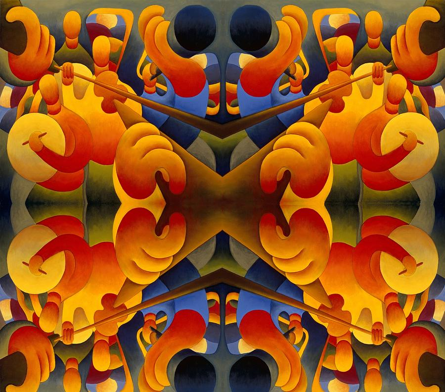 Musical Repetition Composition Painting by Alan Kenny