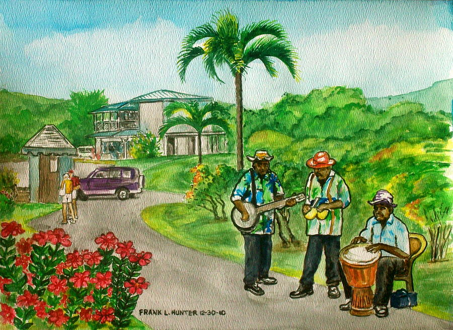 Musicians On Island Of Grenada Painting By Frank Hunter