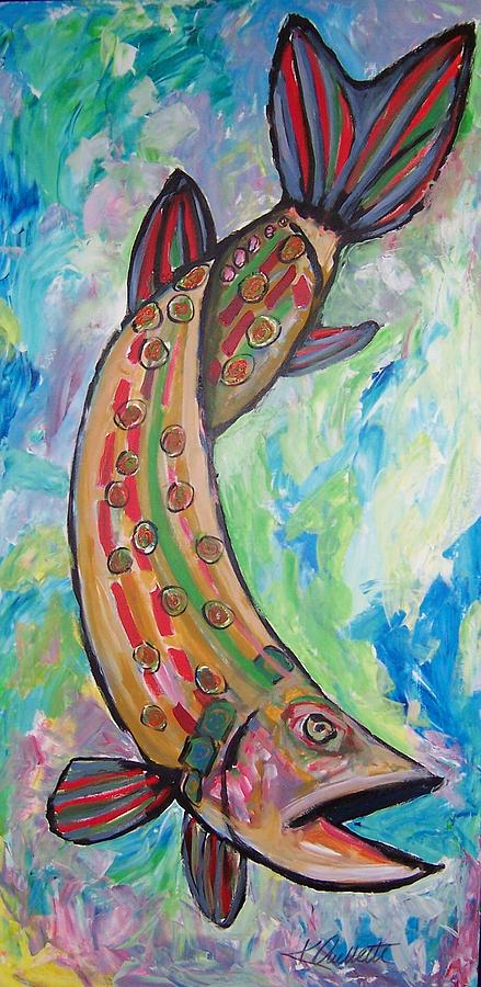 Muskie Painting - Muskie by Krista Ouellette