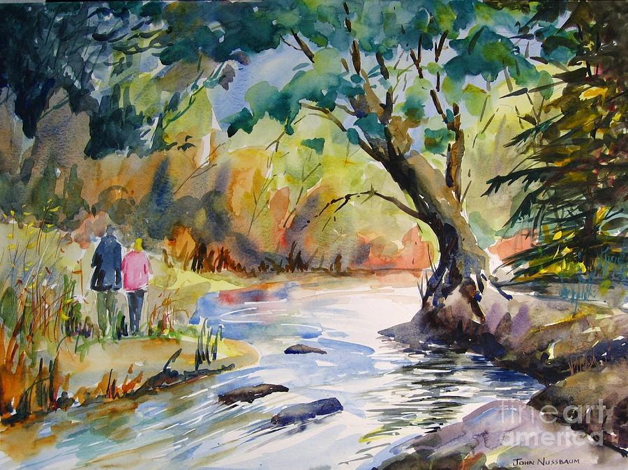 Abstract Paintings Painting - Muskoka Stroll by John Nussbaum