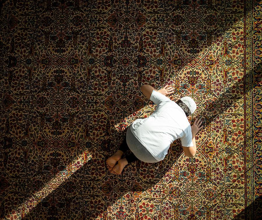 Muslim Child Inside Mosque Praying Photograph by Jasmin Merdan