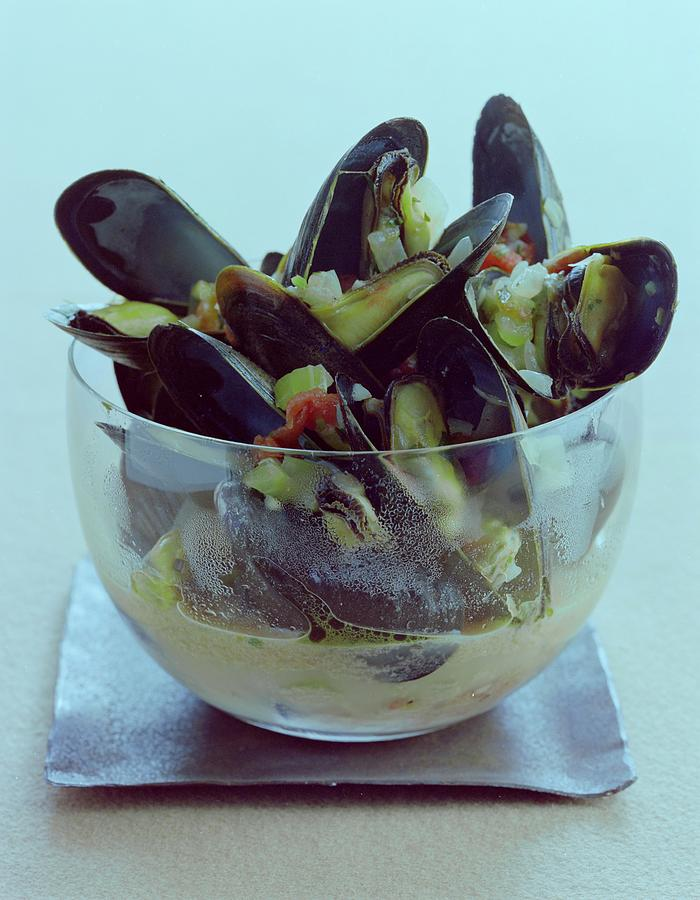 Mussels In Broth Photograph by Romulo Yanes