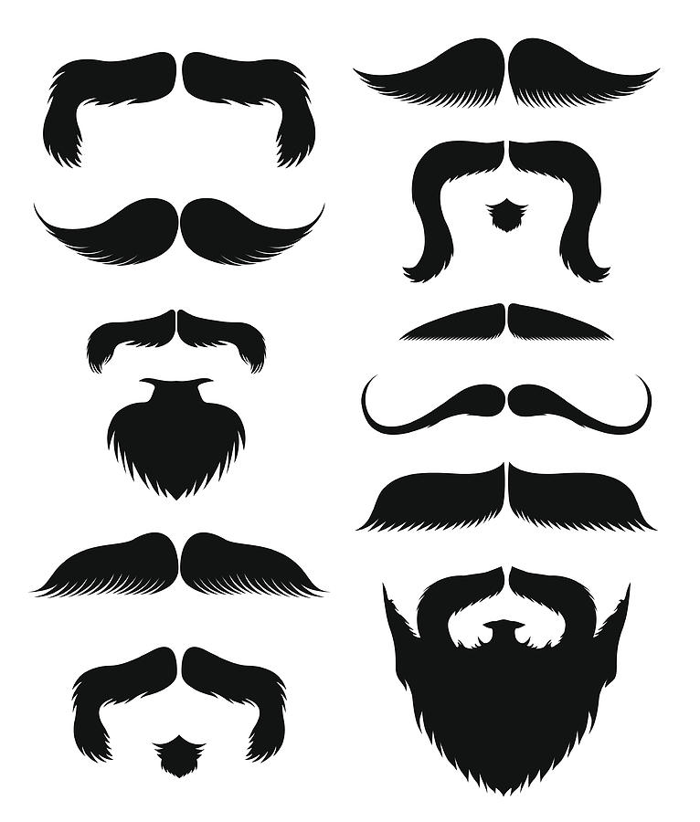 Mustache And Beards Drawing by Bulentgultek