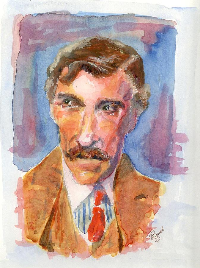 Watercolor Painting - Mustache by Marsden Burnell