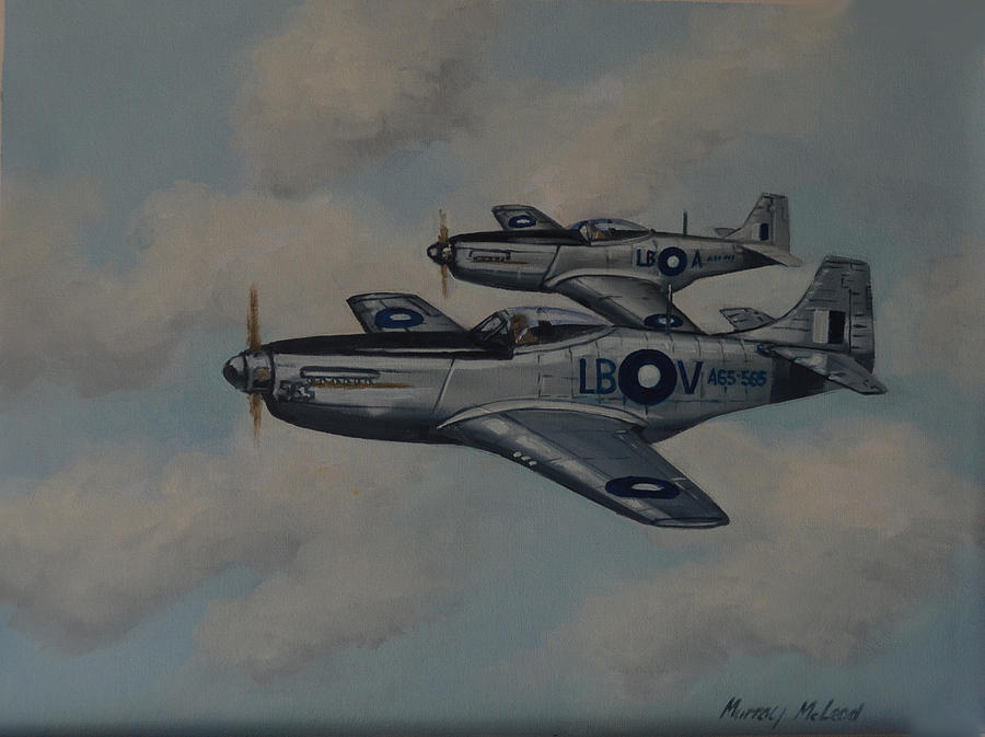 Mustang Duo Painting by Murray McLeod