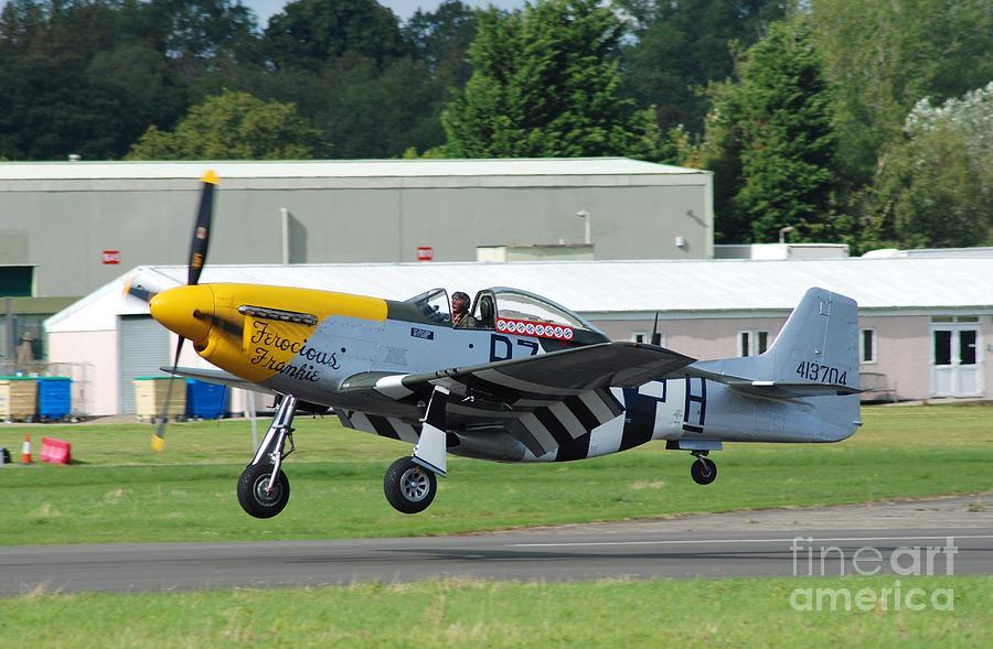 Mustang Fighter Landing Photograph