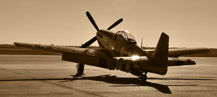 P51 Photograph - Mustang In The Sun by Richard Booth