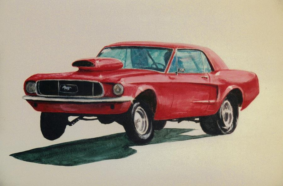Mustang Painting - Mustang Launch by Stacy C Bottoms