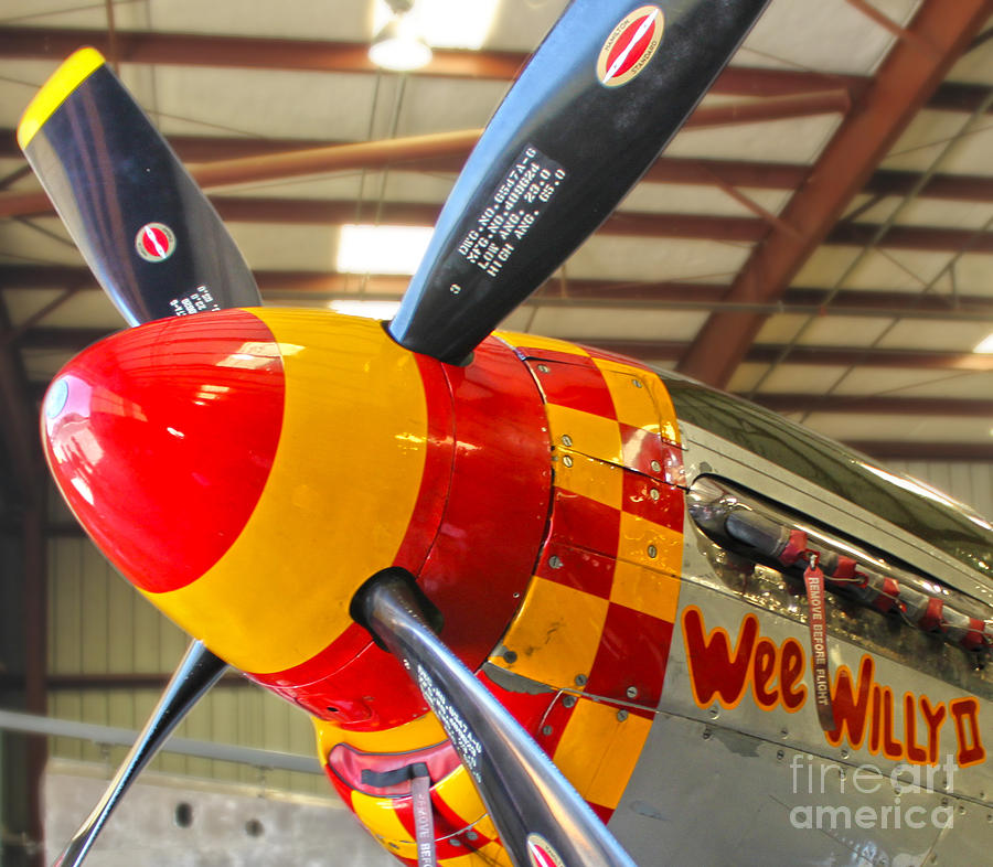 Airplanes Photograph - Mustang P-51d Wee Willie by Gregory Dyer