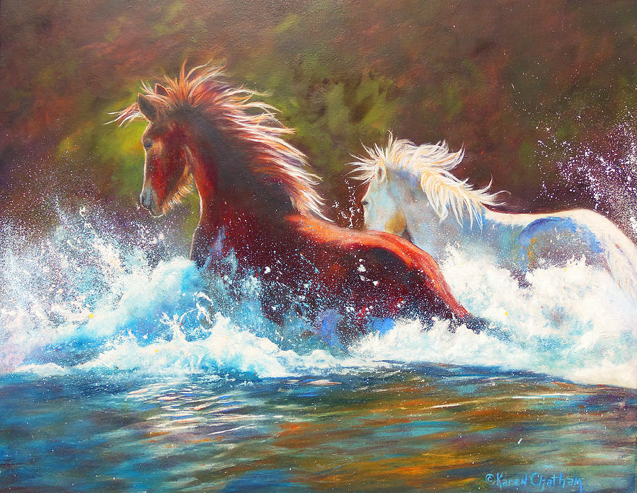 Mustang Splash by Karen Kennedy Chatham