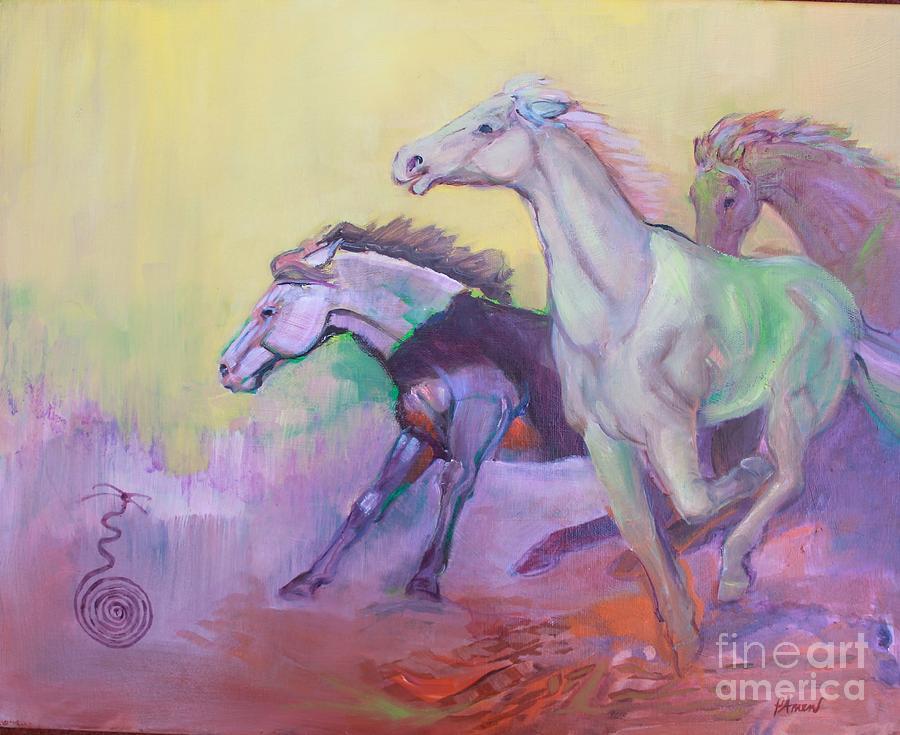 Mustangs  by Patricia Amen
