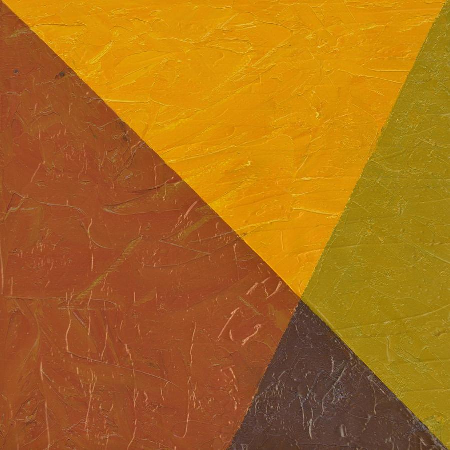 Abstract Painting - Mustard And Pickle by Michelle Calkins