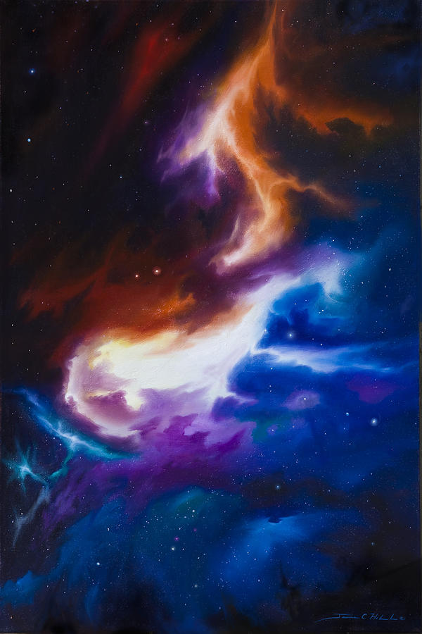 James C. Hill Painting - Mutara Nebula by James Christopher Hill