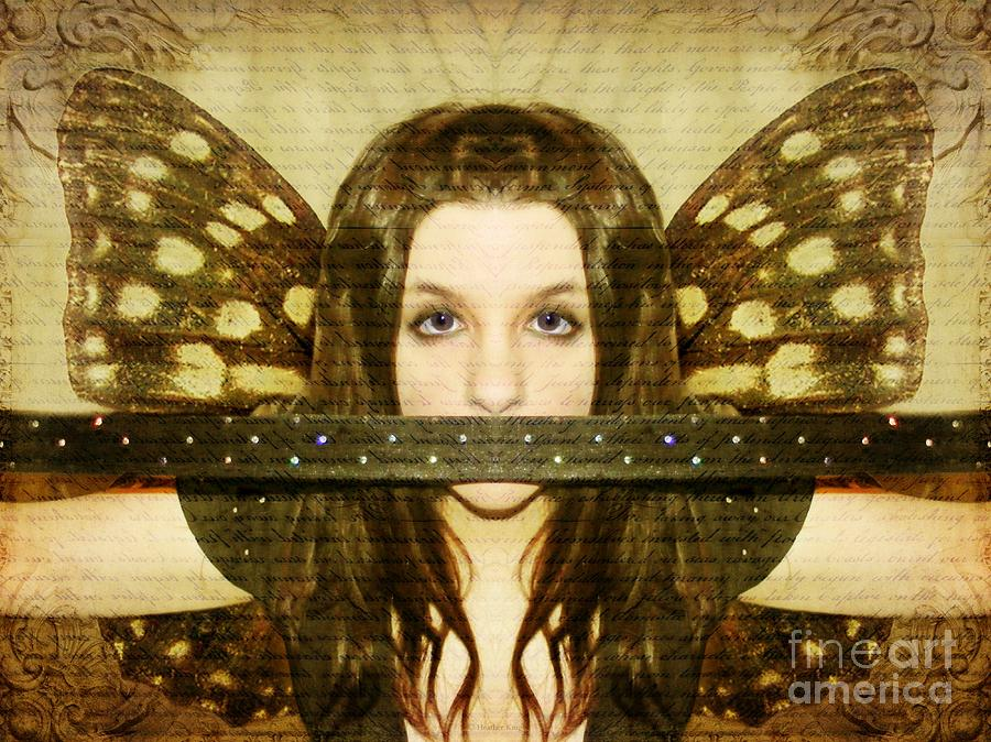 Angel Photograph - Mute Witness by Heather King