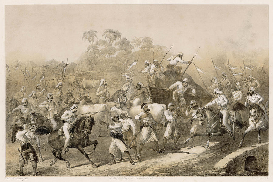 Surprised Drawing - Mutineers Surprised By Her  Majestys by Mary Evans Picture Library