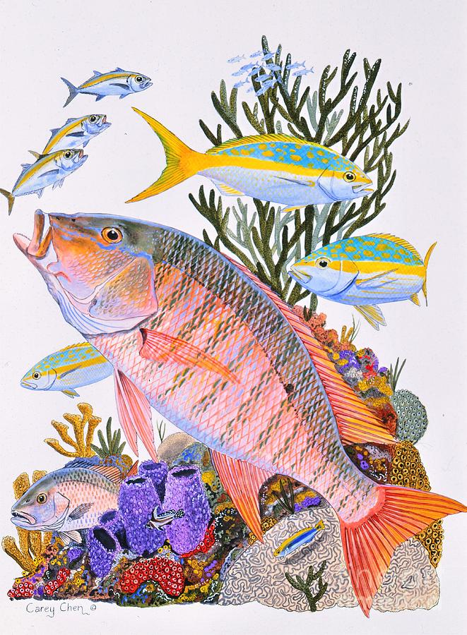 Mutton Snapper Reef Painting