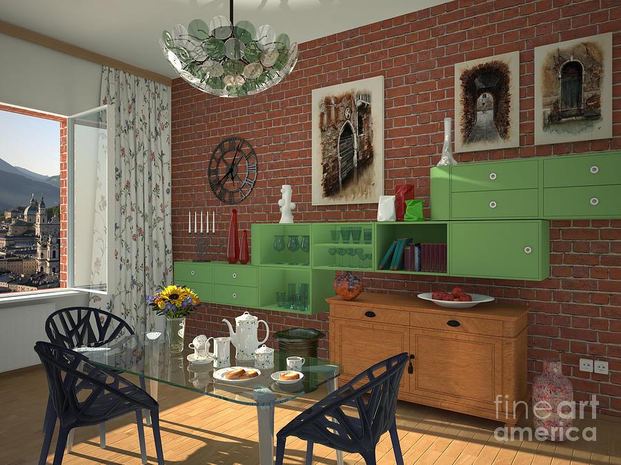 Interior Painting - My Art In The Interior Decoration - Elena Yakubovich by Elena Yakubovich