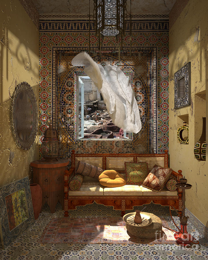 3d Painting - My Art In The Interior Decoration - Morocco - Elena Yakubovich by Elena Yakubovich