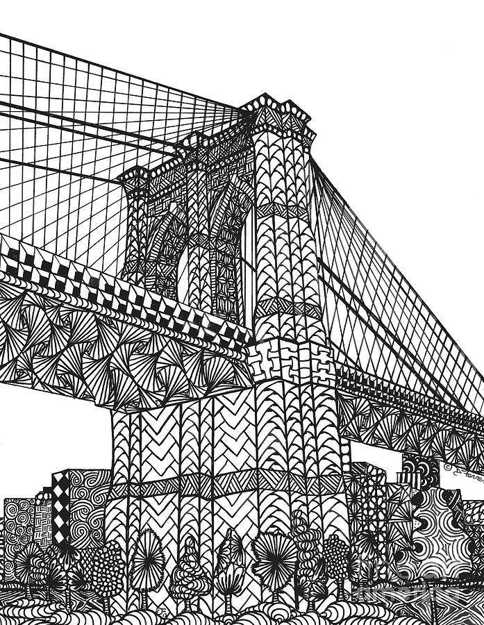 Brooklyn bridge drawings page 2 of 3 fine art america brooklyn bridge drawing my beloved brooklyn bridge by dianne ferrer malvernweather Choice Image