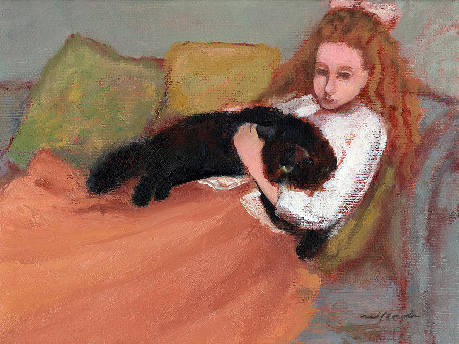 Cats Painting - My Black Cat by J Reifsnyder