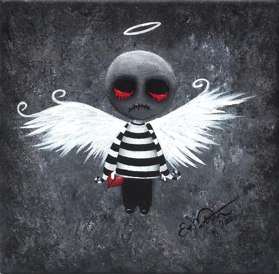 My Bloody Angel Painting By Oddball Art Co By Lizzy Love