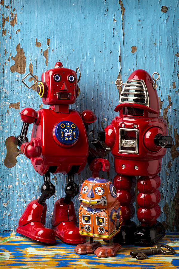 Robots Photograph - My Bots by Garry Gay