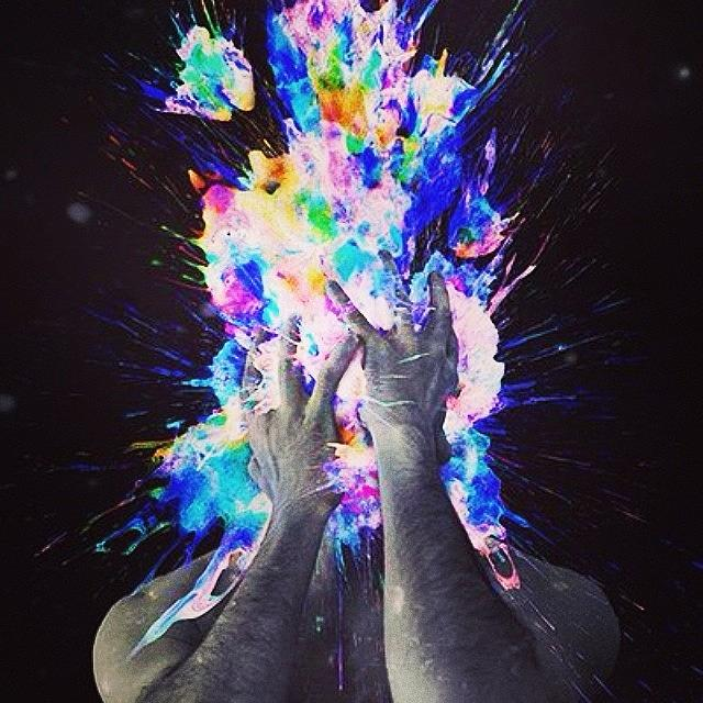 Trippy Photograph - My Brains An Explosion...i Think In by Smellslikeairwick Tirrell