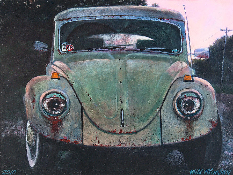 Vw Painting - My Bug by Blue Sky