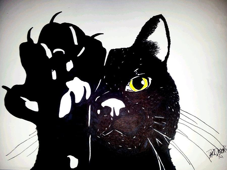 Clipart Egyptian Cat Back