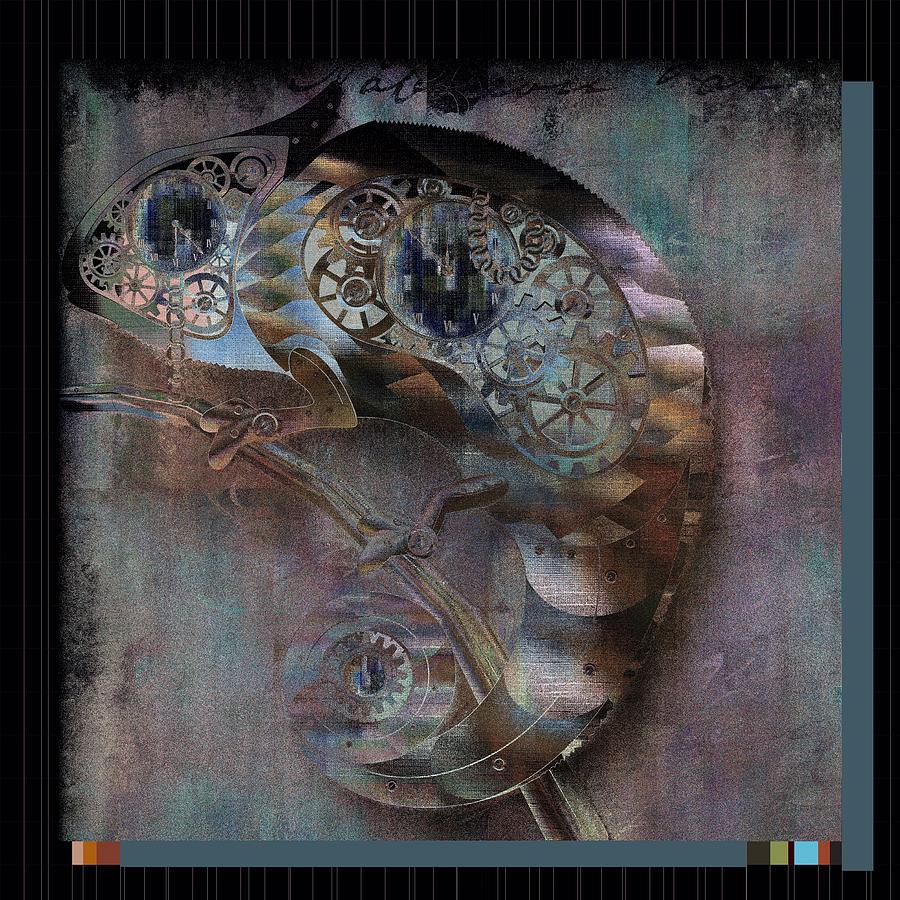 Animal Digital Art - Chameleon - Vspgr01b by Variance Collections