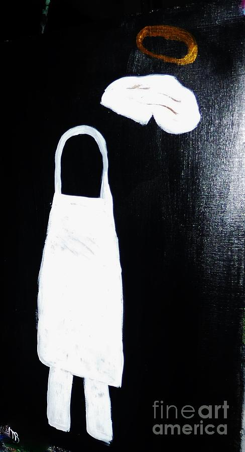 Apron Painting - My Chef My Angel by Marie Bulger