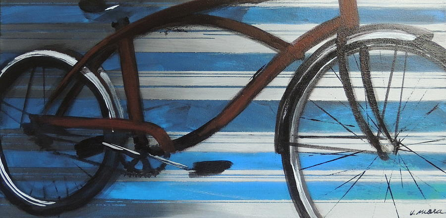 Bicycle Painting - My Cruiser by Vivian Mora