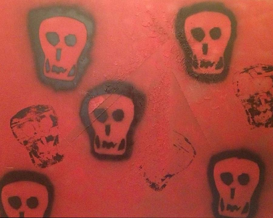 Red Painting - Devil At Large by Lisa Piper