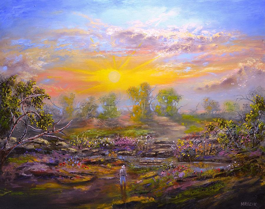 Landscape Painting - My Escape by Michael Mrozik