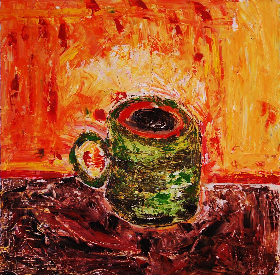 Coffee Painting - My Favorite Cup by Ian  Fruehauf
