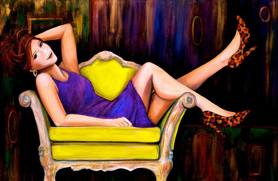 Girl Painting - My Favorite Girl by Debi Starr