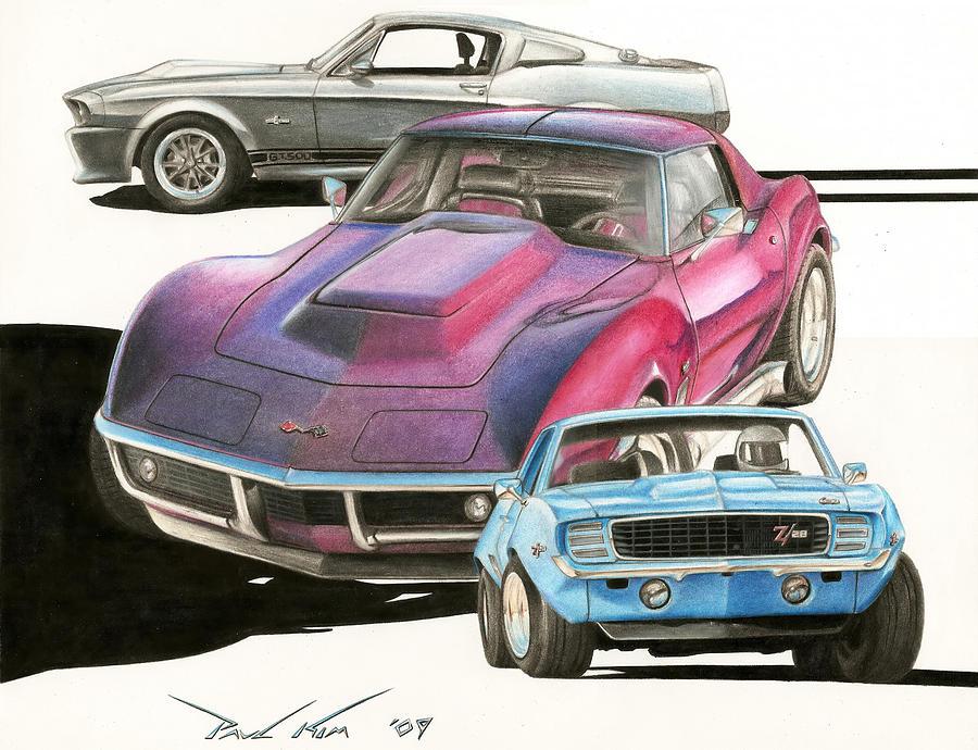 My Favorite Three Drawing by Paul Kim