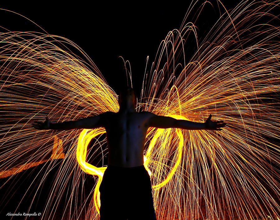 Steel Wool Photograph - My Fire Angel by Alexandra  Rampolla