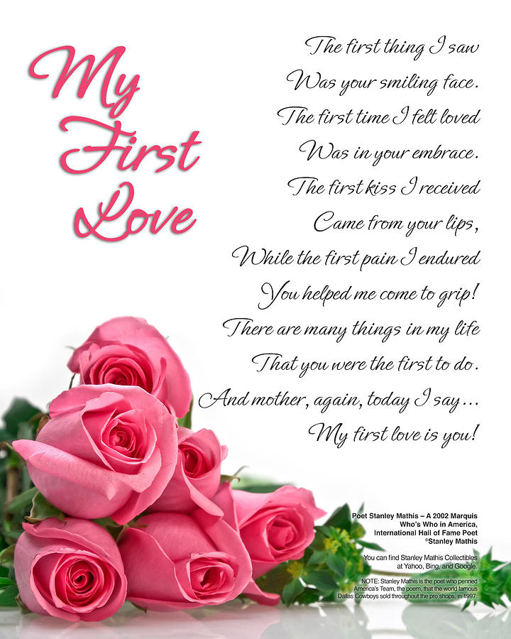 My First Love Poetry Art Print Digital Art by Stanley Mathis